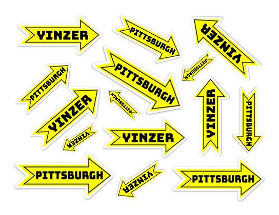 Waterproof Vinyl Pittsburgh Yinzer Arrow Sticker |Free Shipping |