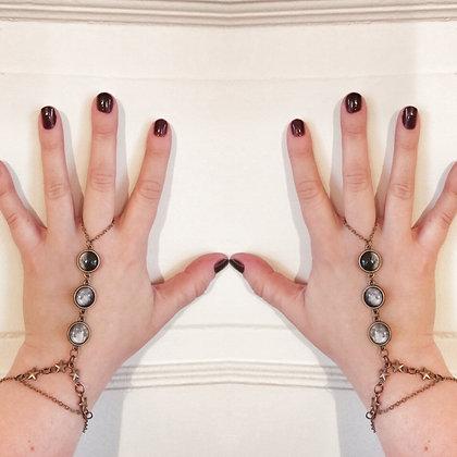 Moon Phase Bracelet W/Ring