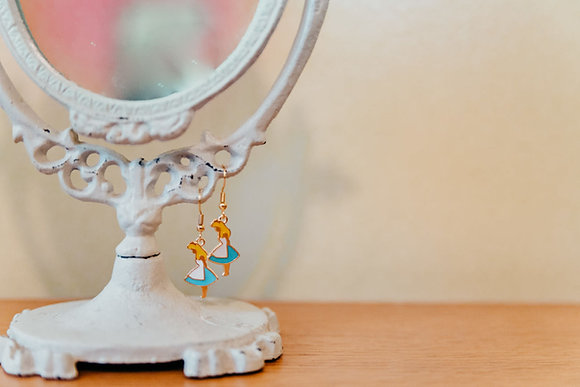 Alice in Wonderland Inspired Alice Earrings