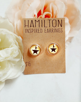 Hamilton Inspired Post Earrings