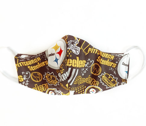 Men's Reversible Pittsburgh Inspired Face Mask | Ready to Ship