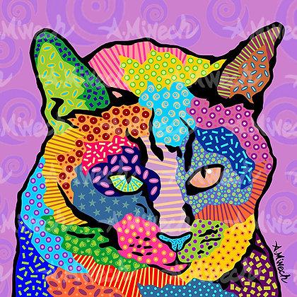 Cat Squeaker Pop Art Shirt by April Minech