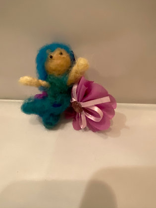 Mermaid with Blue Hair Pin