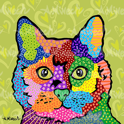 KateB Cat Pop Art Shirt by April Minech