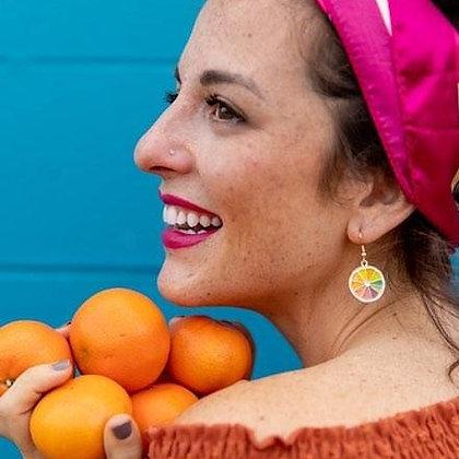 Vibrant Citrus Earrings