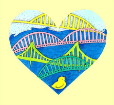 Pittsburgh Ducky Heart, by Katya Malkin