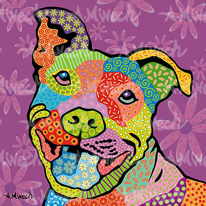 Dog Pop Art, F-P - by April Minech