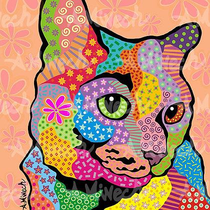 Zoe Cat Pop Art Shirt by April Minech