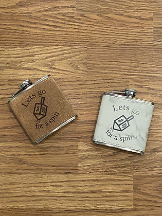 Let's Go For a Spin (Dreidle) Stainless Steel Flask