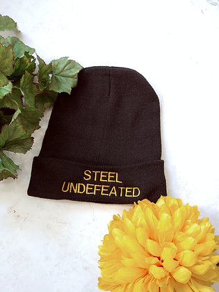 Steel Undefeated Cozy Knit Cap (Adult)