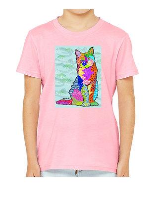 Cat Pop Art Child Shirts, by April Minech