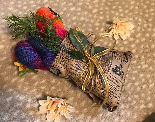 Blossoms of Flowers Yarn Bouquet
