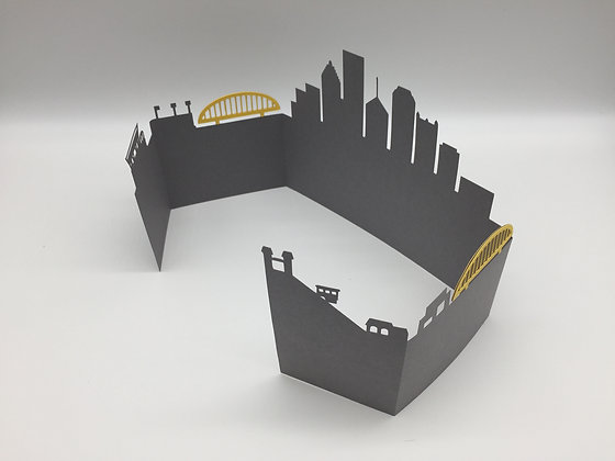3D Pittsburgh Skyline Card by Sweet Baby Paper Company