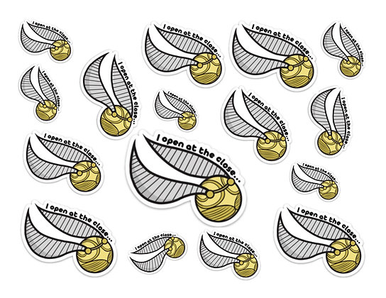Waterproof Vinyl Harry Potter Inspired Golden Snitch Sticker |Free Shipping
