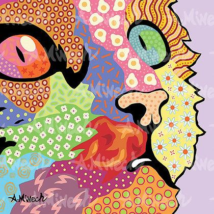 Cat Face Pop Art Shirt by April Minech