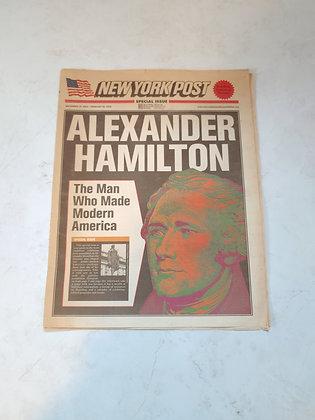 Vintage New York Post Featuring Alexander Hamilton