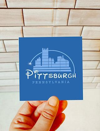 Waterproof Vinyl Pittsburgh x Disney Sticker
