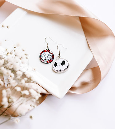 Nightmare Before Christmas Inspired Earrings
