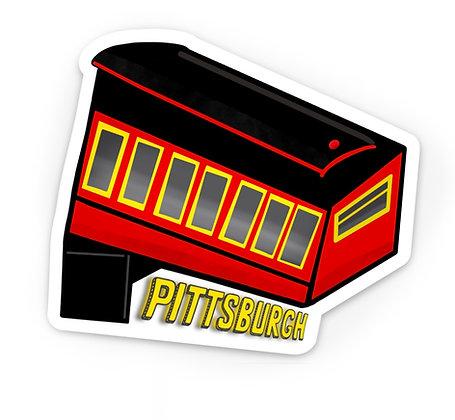 Waterproof Vinyl Pittsburgh Incline Magnet