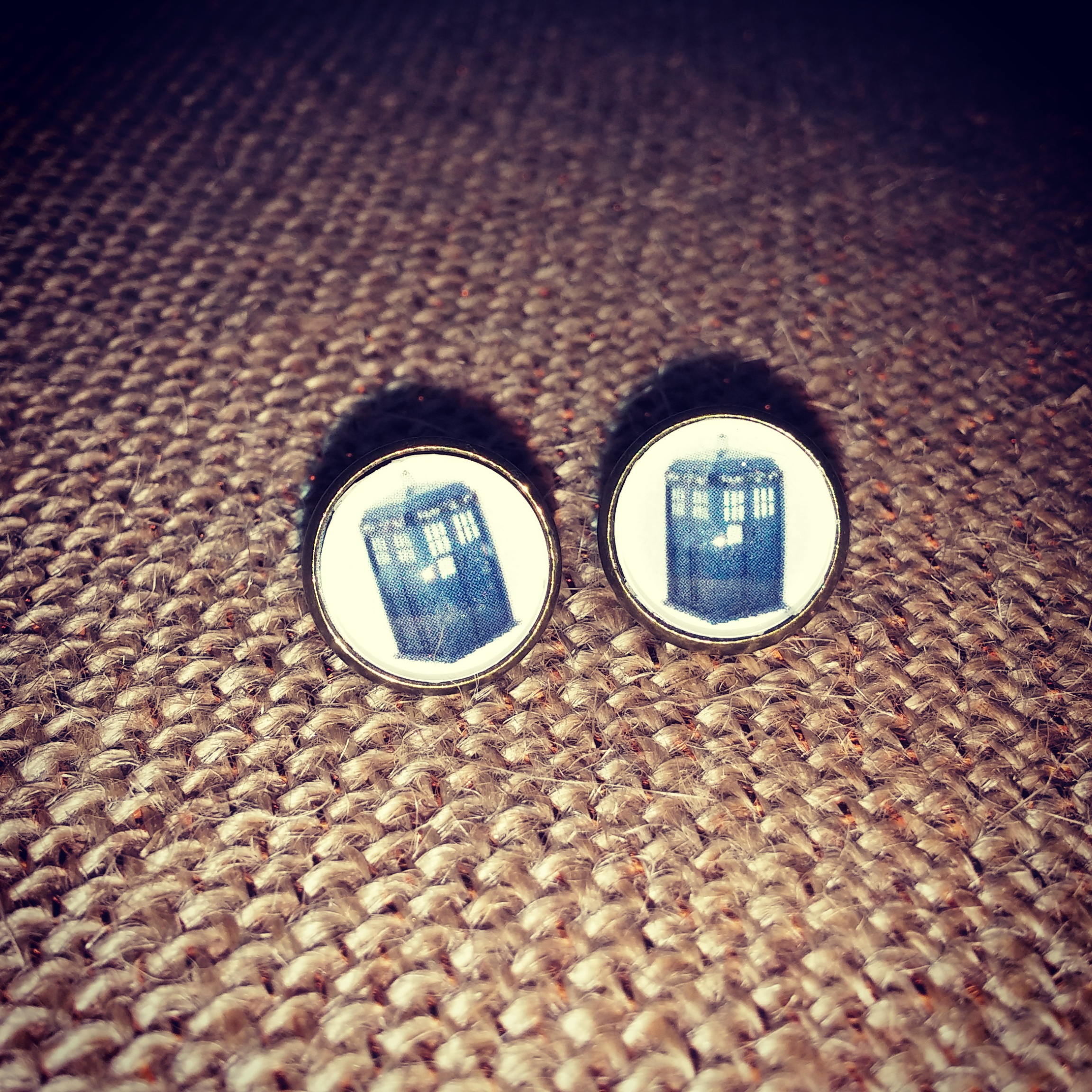 Dr. Who Post Earrings