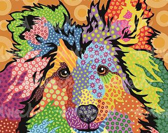 Dog Pop Art, R-W - by April Minech