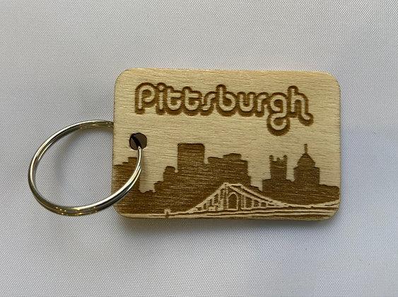 Pittsburgh with Bridge Key Chain