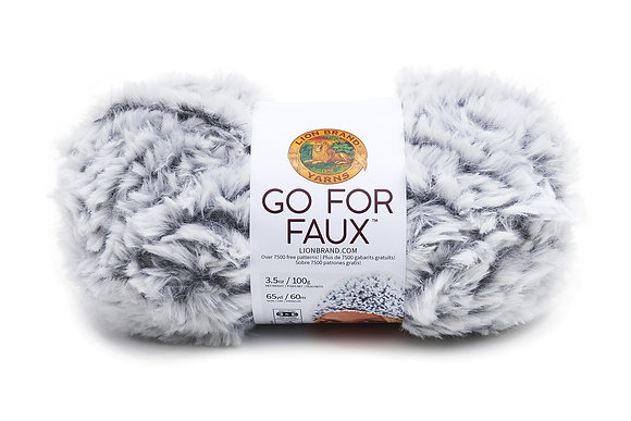 Lion Brand Go For Faux Yarn -Available in Pink and Grey
