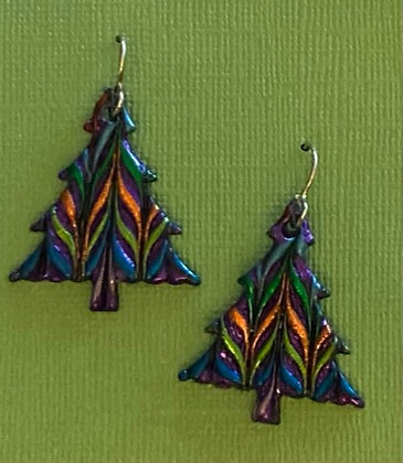 Christmas Tree Earrings - large, by Cathy Frank