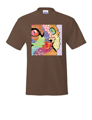 Cat Pop Art Adult Shirts, by April Minech