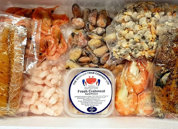 Luxury frozen seafood box