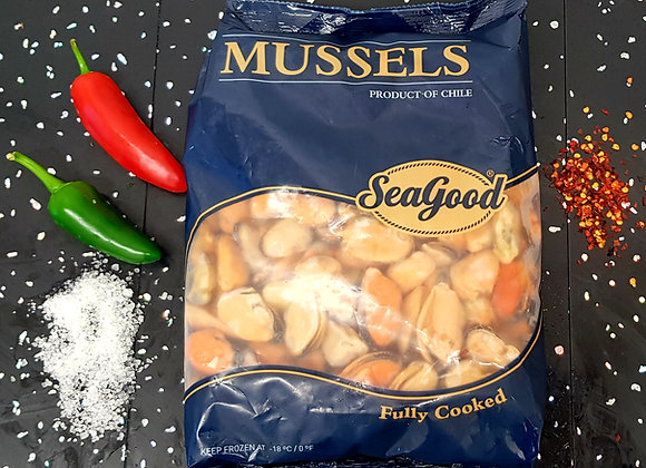 Ikg bag cooked mussel meat