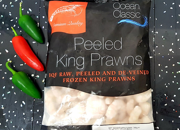 King prawns peeled and de-veined