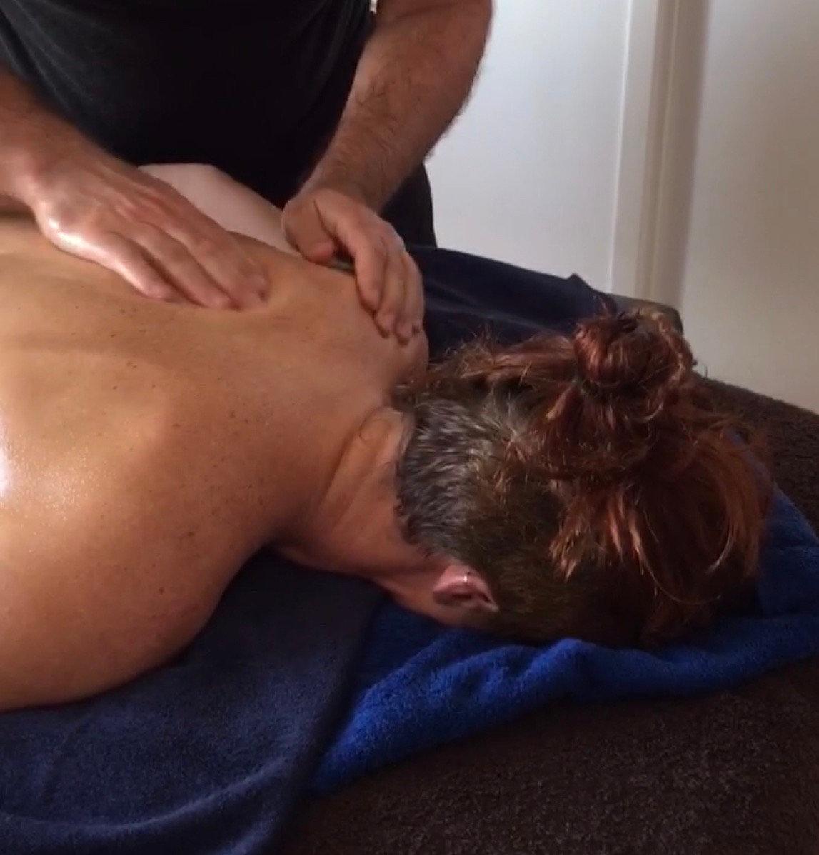 Massage du dos 1/2h