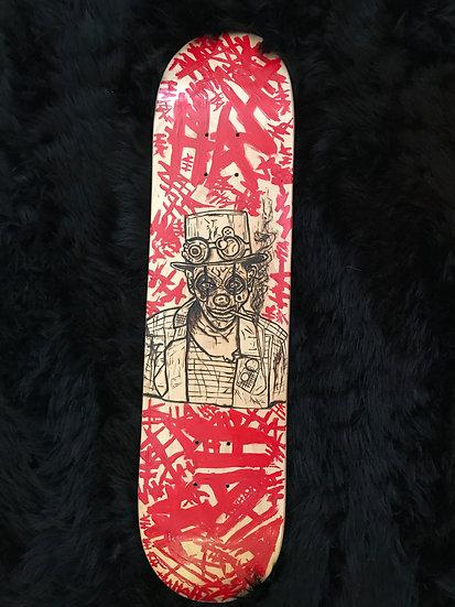 Joker - Pyrography wood burned skateboard deck