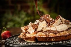 Waffle de Nutella.