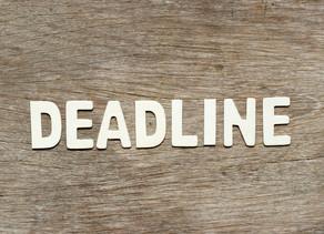 Evidence Deadline Extended for the Excellence program