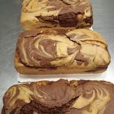 Bizcocho de vainilla y chocolate (V)