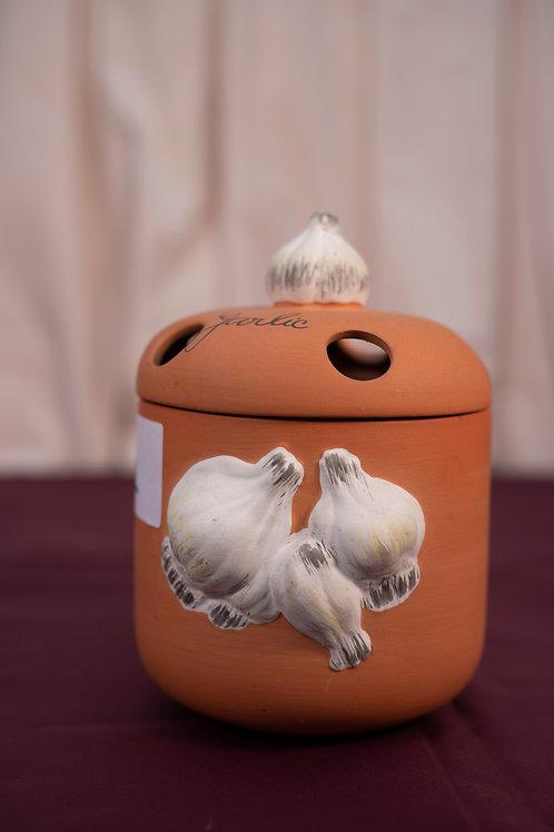 113. Terracotta Garlic Bulb Container