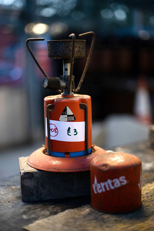 408. Camping Stove and Extra Gas Cannister