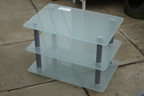 254. Frosted Glass TV Stand