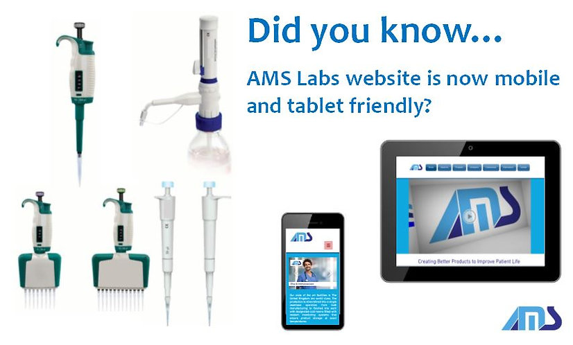 AMS Labs Mobile Friendly Website