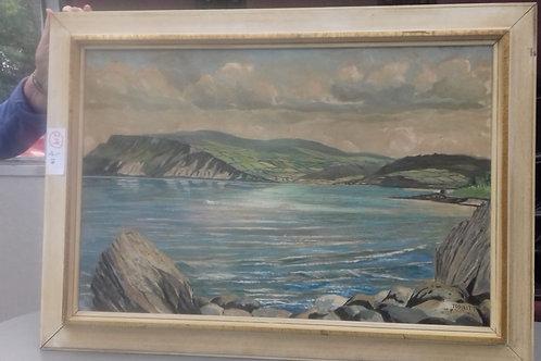223. Original Oil Painting of Carnlough Bay