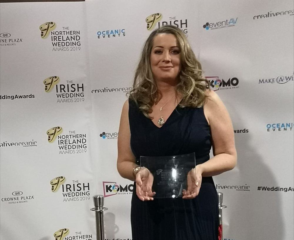 Vera McCullough Jewellery wins Jeweller of the year award at the Northern Ireland Wedding Awards 2019