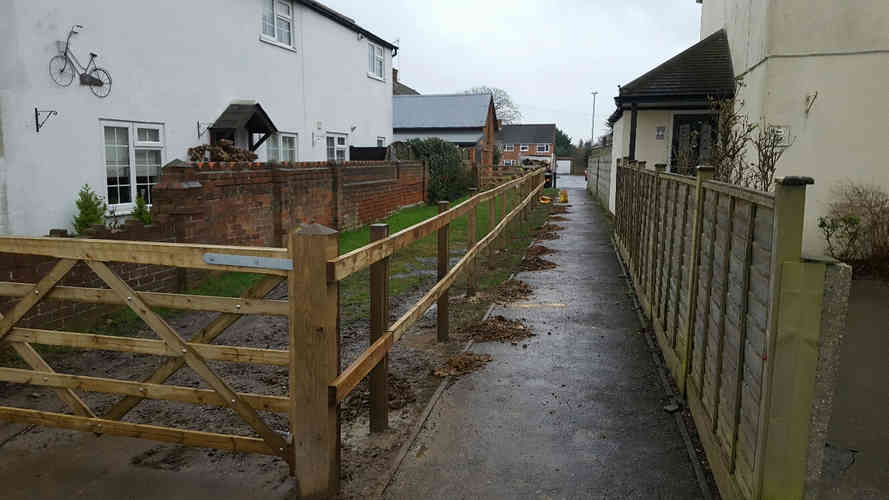 post and rail fencing tilhurst