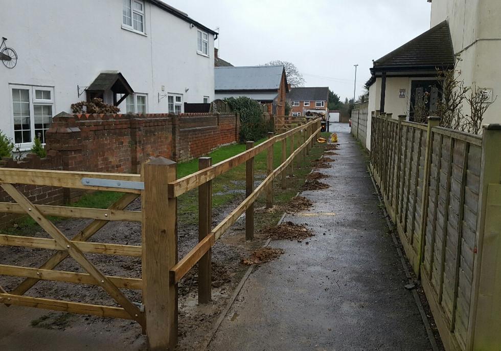 post and rail fencing tilhurst