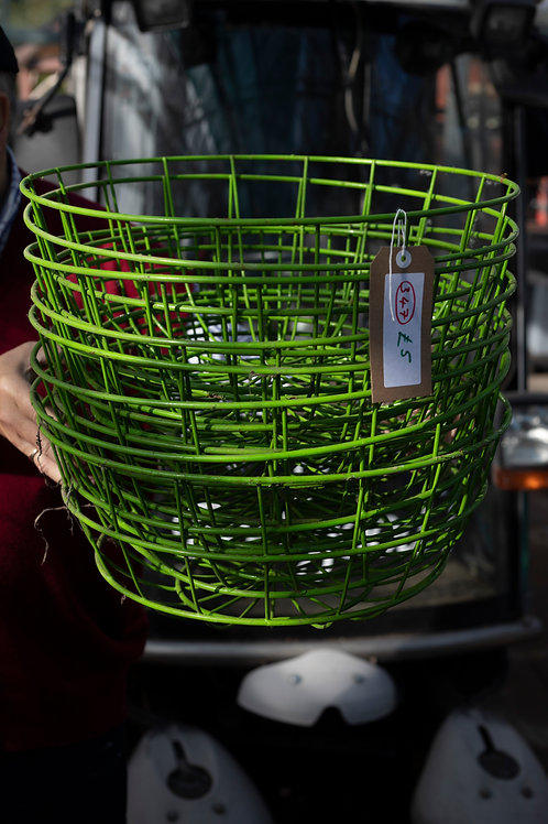 347. Eight Heavyweight Metal Plastic Coated Hanging Baskets