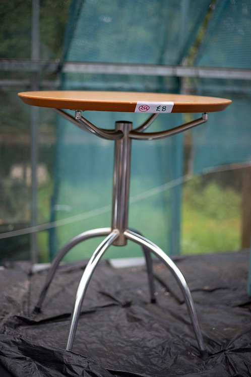 256. Chrome Small Dining Table