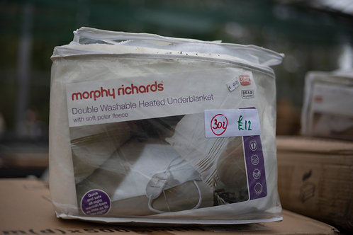 302. Morphy Richards Washable Double Heated Electric Underblanket
