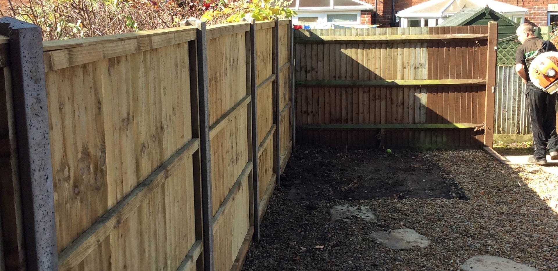 close board fencing installed charvil