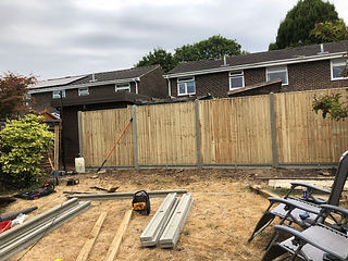 Bennetts Tree Care fencing concrete posts in woodley wokingham berkshire